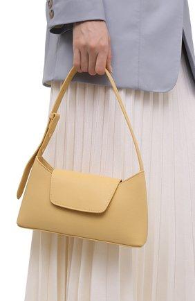 Женская сумка envelope ELLEME желтого цвета, арт. ENVEL0PE/PEBBLE LEATHER | Фото 2