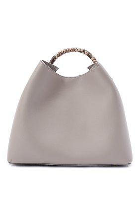 Женская сумка raisin ELLEME серого цвета, арт. RAISIN/LEATHER/CAVIAR | Фото 1