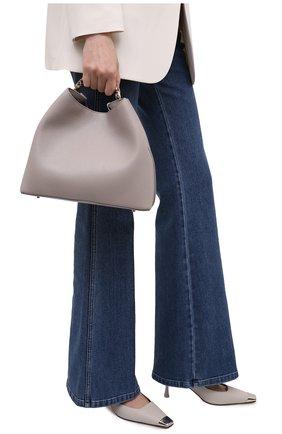 Женская сумка raisin ELLEME серого цвета, арт. RAISIN/LEATHER/CAVIAR | Фото 2