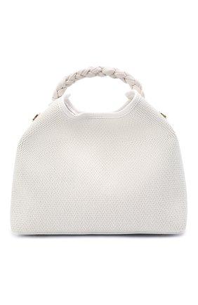 Женская сумка raisin ELLEME белого цвета, арт. RAISIN/TRESSE RAFFIA/LEATHER | Фото 1
