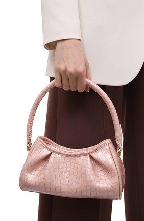 Женская сумка dimple small ELLEME розового цвета, арт. SMALL DIMPLE/CR0C0 PEARL LEATHER | Фото 2