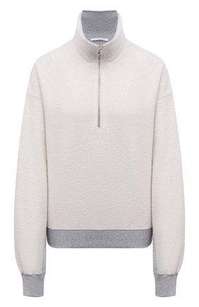 Женский хлопковый свитер HELMUT LANG светло-серого цвета, арт. L01DW502 | Фото 1