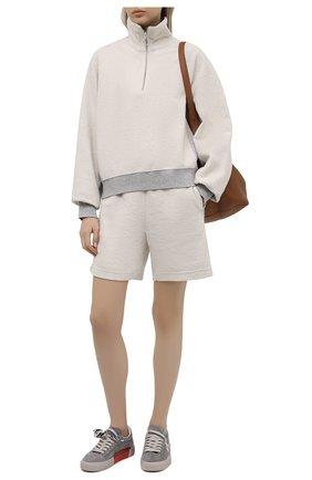 Женский хлопковый свитер HELMUT LANG светло-серого цвета, арт. L01DW502 | Фото 2