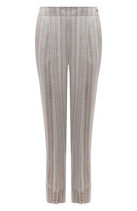 Женские льняные брюки GIORGIO ARMANI бежевого цвета, арт. 1WHPP0JE/T02IM   Фото 1