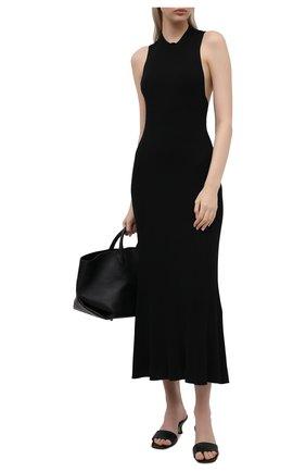 Женское платье из вискозы MRZ черного цвета, арт. S21-0140 | Фото 2