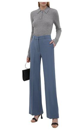 Женский шерстяной пуловер GANNI серого цвета, арт. K1513 | Фото 2