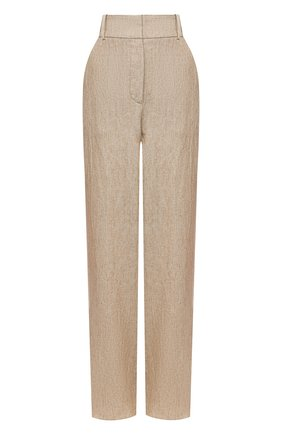 Женские льняные брюки GIORGIO ARMANI бежевого цвета, арт. 1WHPP0JF/T022Q | Фото 1