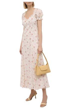 Женское хлопковое платье POLO RALPH LAUREN светло-розового цвета, арт. 211838043   Фото 2 (Материал внешний: Хлопок; Стили: Бохо; Материал подклада: Хлопок; Случай: Повседневный; Рукава: Короткие; Женское Кросс-КТ: Платье-одежда; Длина Ж (юбки, платья, шорты): Миди)
