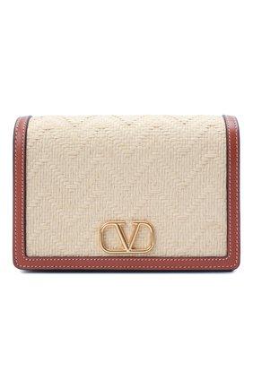 Женская сумка vsling VALENTINO бежевого цвета, арт. VW0P0V34/NIR | Фото 1 (Ремень/цепочка: С цепочкой, На ремешке; Материал: Натуральная кожа; Размер: mini; Сумки-технические: Сумки через плечо)