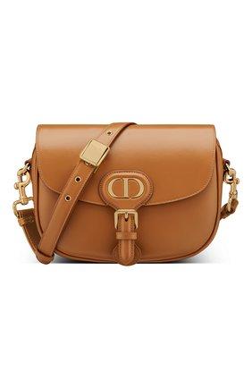 Женская сумка dior bobby medium DIOR светло-коричневого цвета, арт. M9319UMOLM44M | Фото 1 (Сумки-технические: Сумки через плечо; Материал: Натуральная кожа; Размер: medium)