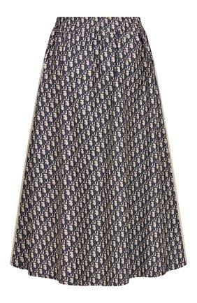Женская юбка DIOR синего цвета, арт. 127J24A2970X5803 | Фото 2 (Материал внешний: Синтетический материал; Длина Ж (юбки, платья, шорты): Миди; Стили: Романтичный)