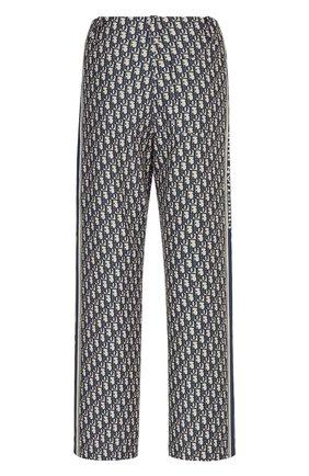 Женские брюки DIOR синего цвета, арт. 127P16A2970X5803 | Фото 2 (Силуэт Ж (брюки и джинсы): Прямые; Женское Кросс-КТ: Брюки-одежда; Стили: Романтичный; Материал внешний: Синтетический материал; Длина (брюки, джинсы): Стандартные)
