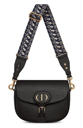 Женская сумка dior bobby large DIOR черного цвета, арт. M9320UBBYM911 | Фото 1 (Сумки-технические: Сумки через плечо; Материал: Натуральная кожа; Размер: large)
