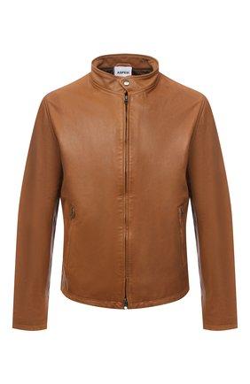 Мужская кожаная куртка ASPESI коричневого цвета, арт. S1 A CG77 G447 | Фото 1