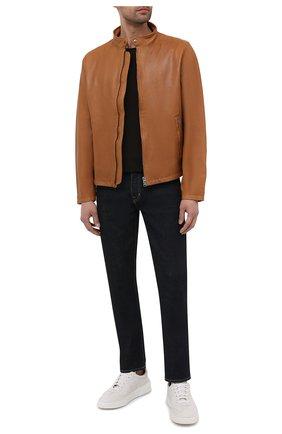 Мужская кожаная куртка ASPESI коричневого цвета, арт. S1 A CG77 G447 | Фото 2