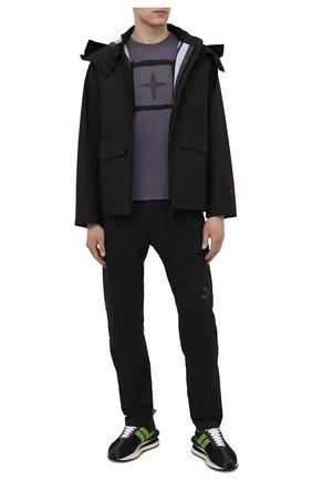 Мужские хлопковые брюки C.P. COMPANY черного цвета, арт. 10CMPA270A-0060260 | Фото 2