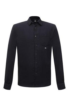 Мужская льняная сорочка C.P. COMPANY темно-синего цвета, арт. 10CMSH309A-005415G | Фото 1