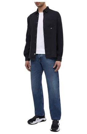 Мужская льняная сорочка C.P. COMPANY темно-синего цвета, арт. 10CMSH309A-005415G | Фото 2
