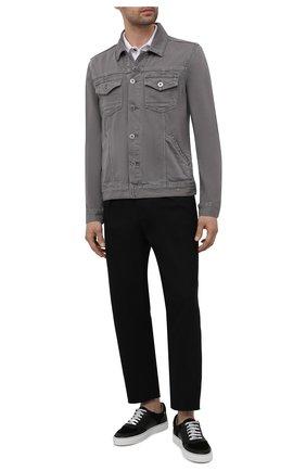 Мужская джинсовая куртка PAIGE серого цвета, арт. M772B32-3698 | Фото 2