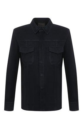 Мужская замшевая рубашка PAIGE темно-синего цвета, арт. M939I19-6781 | Фото 1