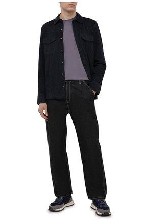 Мужская замшевая рубашка PAIGE темно-синего цвета, арт. M939I19-6781 | Фото 2