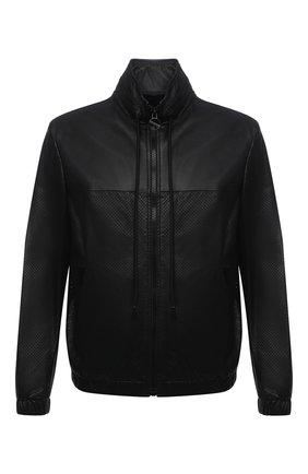 Мужская кожаная куртка  DIESEL черного цвета, арт. A02282/0KBAS | Фото 1