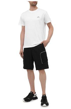 Мужская хлопковая футболка A-COLD-WALL* белого цвета, арт. ACWMTS029   Фото 2 (Длина (для топов): Стандартные; Рукава: Короткие; Кросс-КТ: Спорт; Материал внешний: Хлопок; Стили: Спорт; Принт: Без принта)