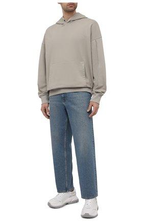 Мужской хлопковое худи A-COLD-WALL* светло-серого цвета, арт. ACWMW030   Фото 2 (Стили: Спорт; Материал внешний: Хлопок; Рукава: Длинные; Длина (для топов): Стандартные; Мужское Кросс-КТ: Худи-одежда; Принт: Без принта)