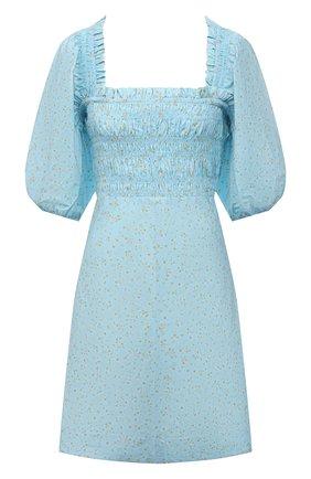 Женское хлопковое платье GANNI голубого цвета, арт. F5912 | Фото 1