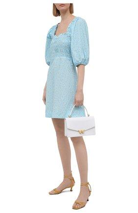 Женское хлопковое платье GANNI голубого цвета, арт. F5912 | Фото 2