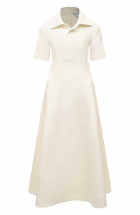 Женское льняное платье BOTTEGA VENETA белого цвета, арт. 656376/V00E0 | Фото 1