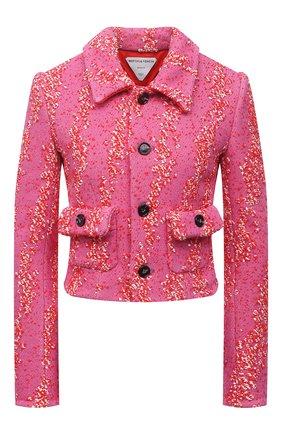 Женский жакет из вискозы BOTTEGA VENETA розового цвета, арт. 654178/V0YU0 | Фото 1