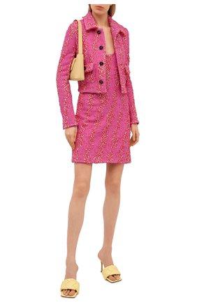 Женский жакет из вискозы BOTTEGA VENETA розового цвета, арт. 654178/V0YU0 | Фото 2