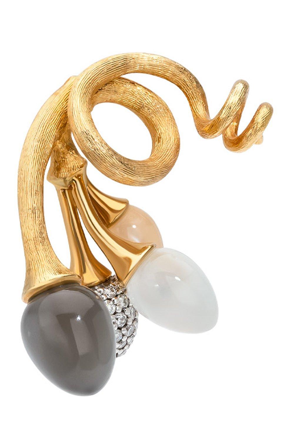 Женские подвеска OLE LYNGGAARD COPENHAGEN бесцветного цвета, арт. A2611-413   Фото 2 (Драгоценные камни: Бриллианты; Материал сплава: Желтое золото)