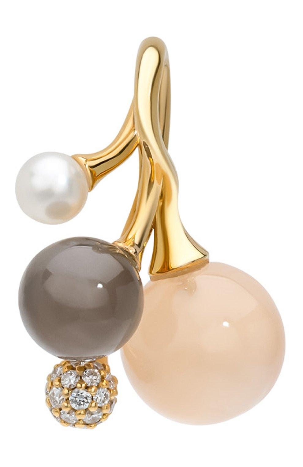 Женские кулон OLE LYNGGAARD COPENHAGEN бесцветного цвета, арт. A2836-402 | Фото 2 (Драгоценные камни: Бриллианты; Материал сплава: Желтое золото)