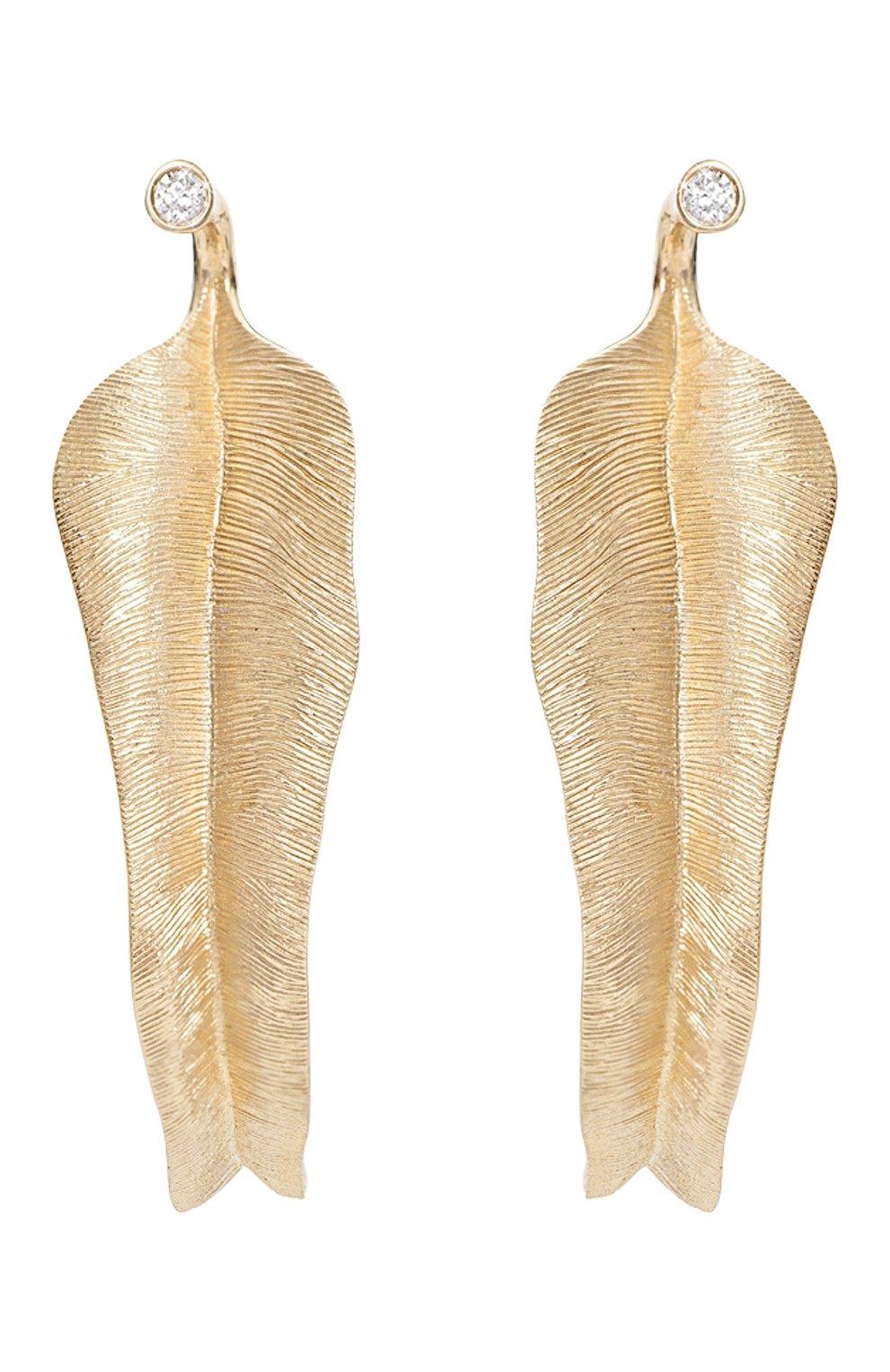 Женские серьги OLE LYNGGAARD COPENHAGEN бесцветного цвета, арт. A2870-401 | Фото 1 (Драгоценные камни: Бриллианты; Материал сплава: Желтое золото)