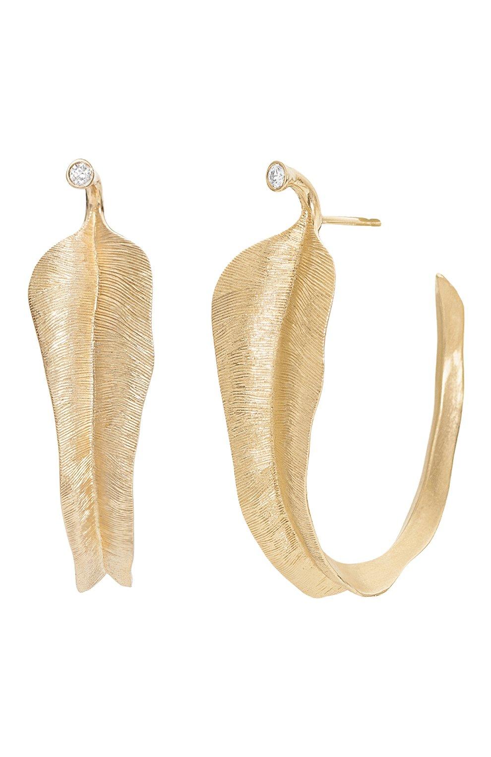 Женские серьги OLE LYNGGAARD COPENHAGEN бесцветного цвета, арт. A2870-401 | Фото 2 (Драгоценные камни: Бриллианты; Материал сплава: Желтое золото)