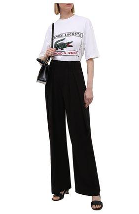 Женская хлопковая футболка LACOSTE белого цвета, арт. TH0242001   Фото 2