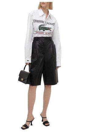 Женская хлопковая рубашка LACOSTE белого цвета, арт. CH0246001   Фото 2