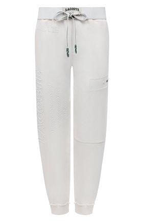 Женские хлопковые джоггеры LACOSTE белого цвета, арт. XH024470V   Фото 1