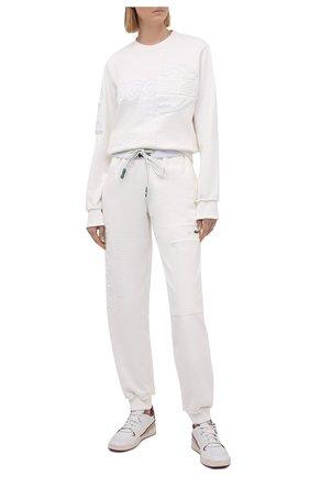 Женские хлопковые джоггеры LACOSTE белого цвета, арт. XH024470V   Фото 2