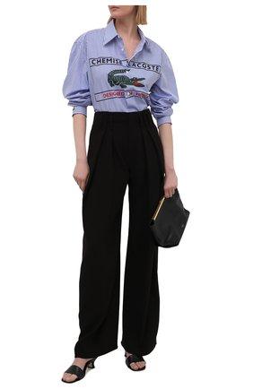 Женская хлопковая рубашка LACOSTE голубого цвета, арт. CH0441CSV | Фото 2