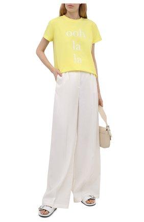 Женская хлопковая футболка SEVEN LAB желтого цвета, арт. T21-OLL G01 yellow   Фото 2