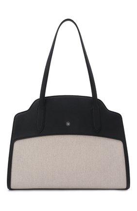 Женская сумка sesia large LORO PIANA темно-синего цвета, арт. FAL6779 | Фото 1 (Сумки-технические: Сумки top-handle; Размер: large; Материал: Текстиль)