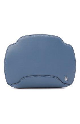 Женская сумка sesia LORO PIANA голубого цвета, арт. FAL6767   Фото 1 (Размер: mini; Материал: Натуральная кожа; Сумки-технические: Сумки через плечо; Ремень/цепочка: На ремешке)