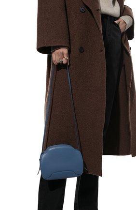 Женская сумка sesia LORO PIANA голубого цвета, арт. FAL6767   Фото 2 (Размер: mini; Материал: Натуральная кожа; Сумки-технические: Сумки через плечо; Ремень/цепочка: На ремешке)