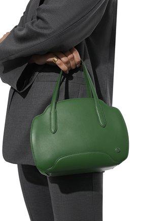 Женская сумка sesia small LORO PIANA зеленого цвета, арт. FAL6766 | Фото 2 (Размер: small; Материал: Натуральная кожа; Сумки-технические: Сумки top-handle)