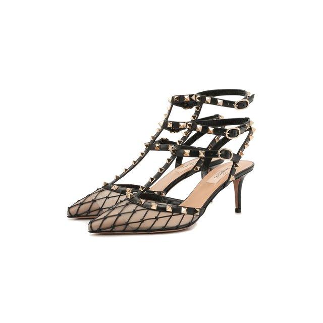 Комбинированные туфли Rockstud Valentino
