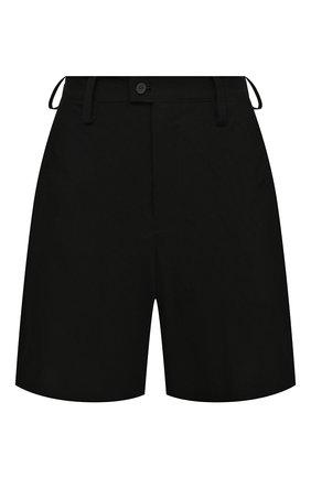 Женские шорты YOHJI YAMAMOTO черного цвета, арт. FD-P06-200   Фото 1