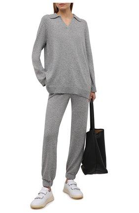 Женский кашемировый пуловер FTC серого цвета, арт. 820-0470   Фото 2